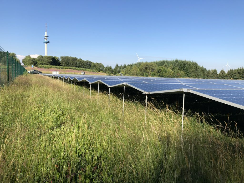 Ortstermin an der Freiflächenanlage in Eckersweiler