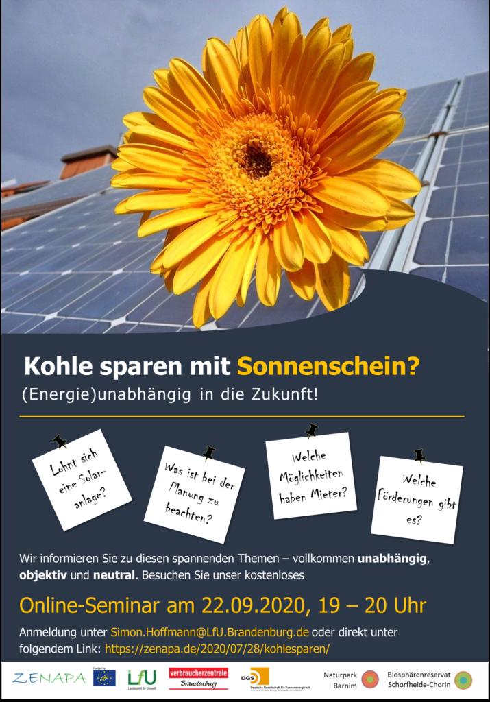 """Online-Seminar """"PV-Dachanlagen für Eigenheimbesitzer und Mieter"""""""