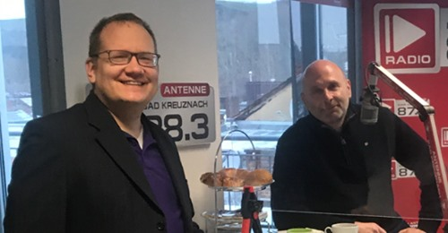 Prof. Heck as a guest on Antenne Bad Kreuznach