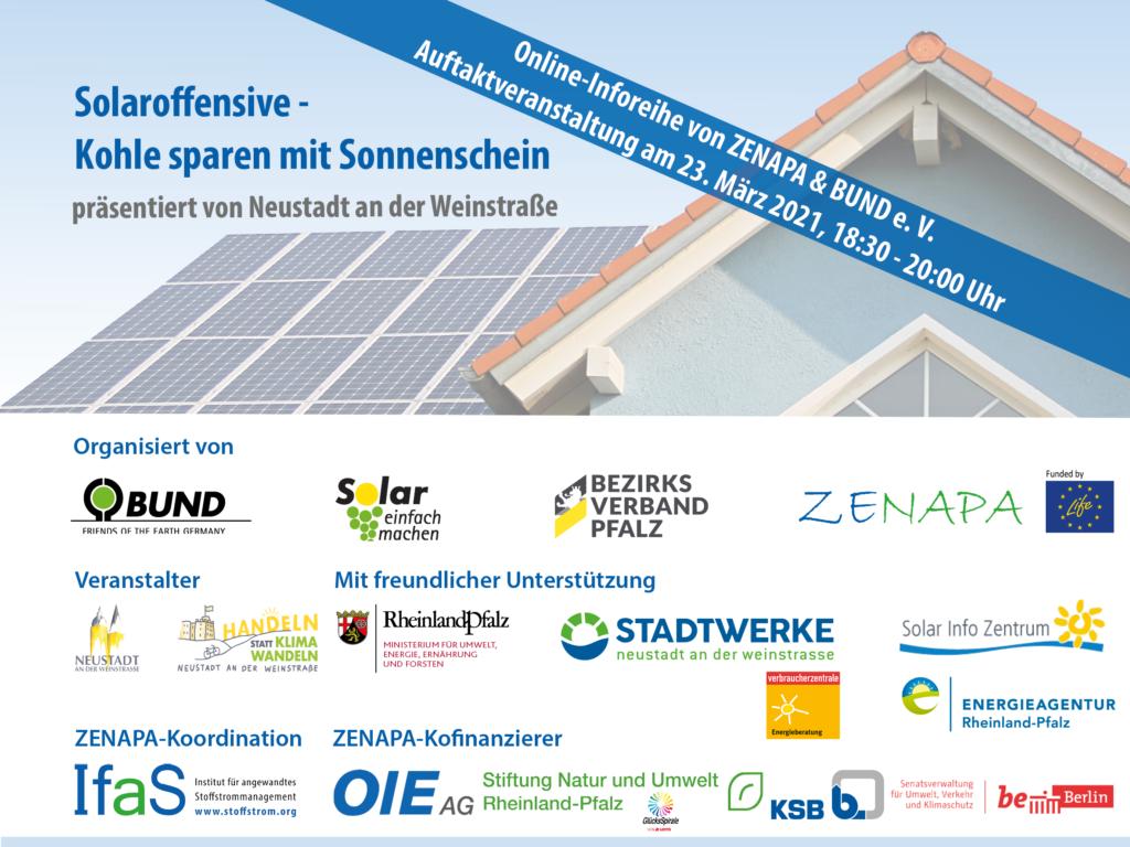 """Auftaktveranstaltung zur Online-Inforeihe Solaroffensive – """"Kohle sparen mit Sonnenschein"""""""