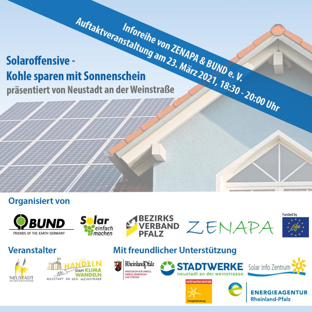 """Erfolgreicher Start der ZENAPA-Inforeihe """"Solaroffensive - Kohle sparen mit Sonnenschein"""""""