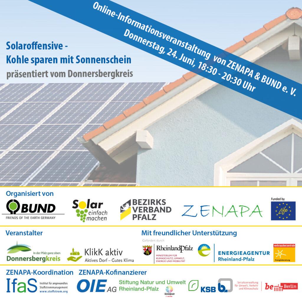 """Online-Veranstaltung der Solaroffensive """"Kohle sparen mit Sonnenschein"""" im Donnersbergkreis"""