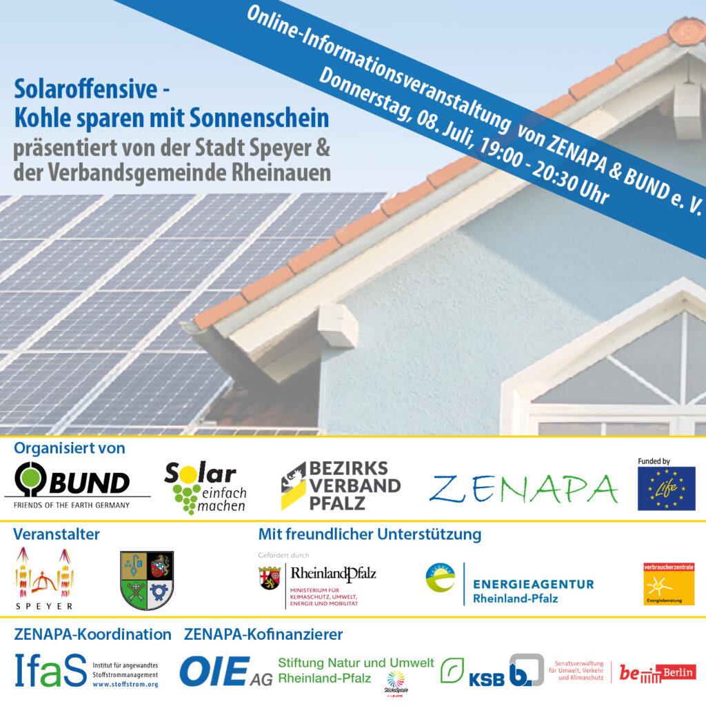 """Online-Seminar Solaroffensive """"Kohle sparen mit Sonnenschein"""" - Jetzt noch anmelden!"""