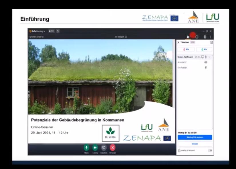 """Mitschnitt Online-Seminar """"Potentiale der Gebäudebegrünung in Kommunen"""""""
