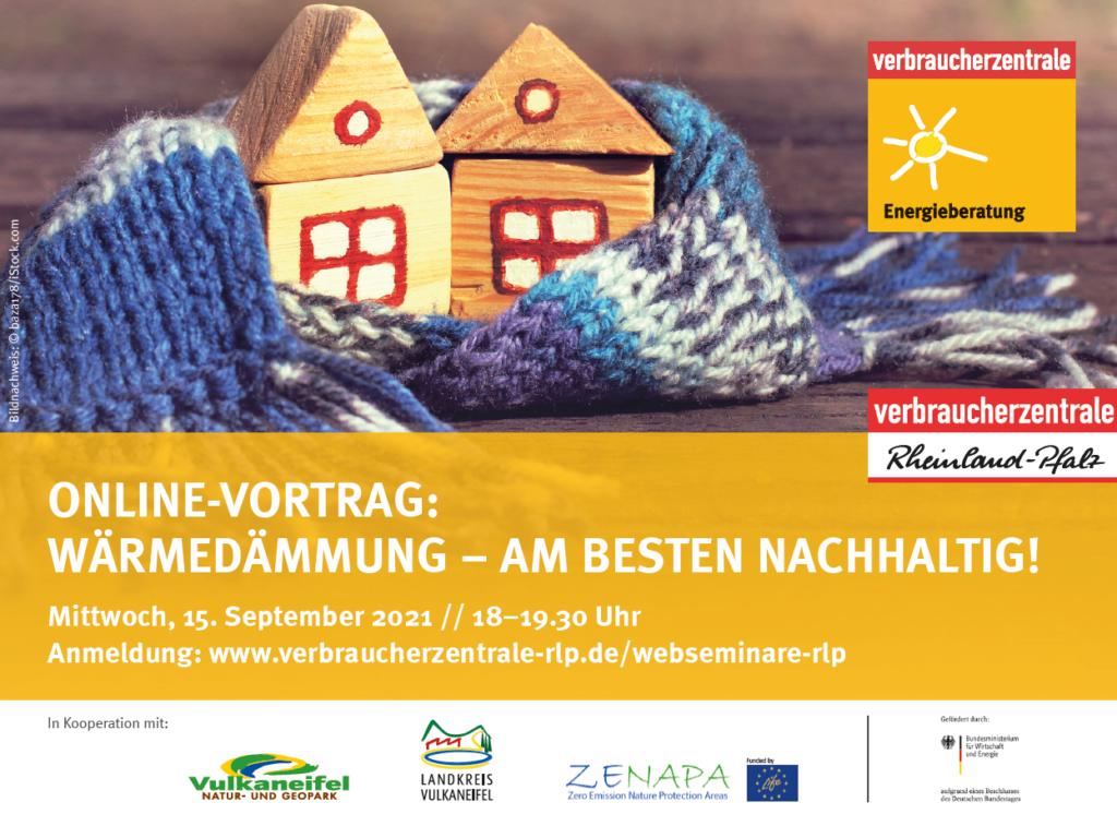 "Web-Seminar ""Wärmedämmung – am besten nachhaltig!"""
